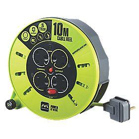 Masterplug PRO XT CMU10134SL-XD 13A 4-GANG 10M CASSETTE REEL 240V £9.99 @ Screwfix
