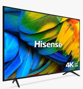 "Hisense H50B7100UK (2019) LED HDR 4K Ultra HD Smart TV, 50"" with Freeview Play + 5 Year Warranty - £299 delivered @ John Lewis and Partners"