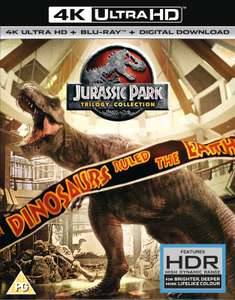 Jurassic Park 4K, Blu-Ray, Digital Trilogy £22.99 @ Zavvi