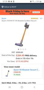Dyson V8 Absolute cordless vacuum cleaner @Amazon