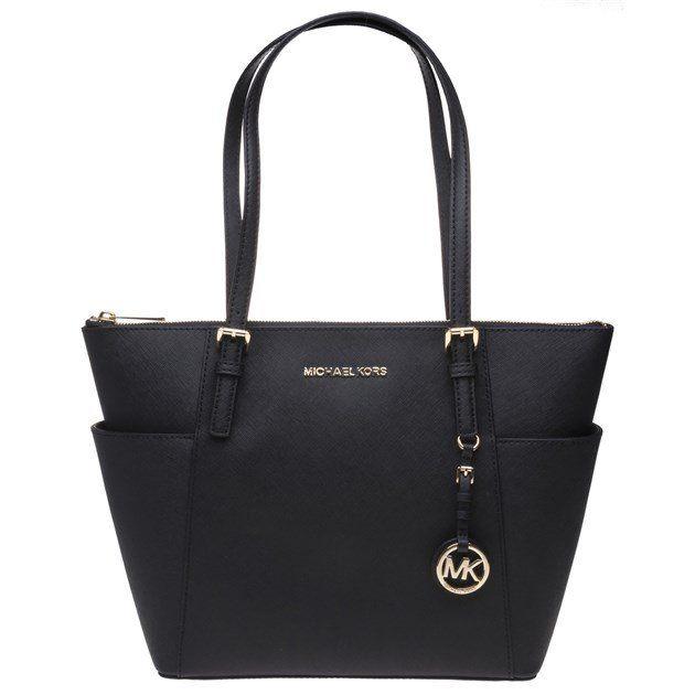 Michael Kors Jet Set Black handbag/tote bag £135 w/code @ SOLETRADER