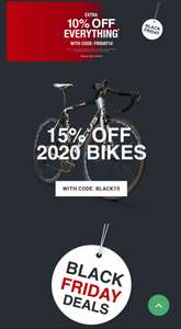 15% off 2020 bikes and 10% off the site @ jejamescycles