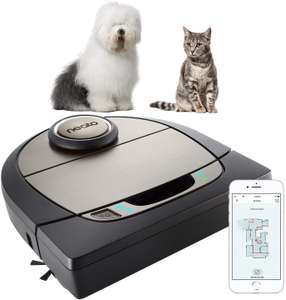 Neato Robotics D750, Cleaner Premium Pack, Corner Cleaning Robotic Vacuum with D-Shape+Exclusive Pet Accessories £399.99 @ Amazon