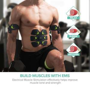 Sable Muscle EMS Abdominal & Body Muscle Toner for Men & Women with Code £6.99 @ Amazon Sunvalleytek-uk (Prime free P&P Non prime £4.49)