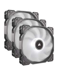 Corsair AF120 Air Series, 120 mm LED Low Noise Cooling Fan - White (Triple Pack) at Amazon for £24.99