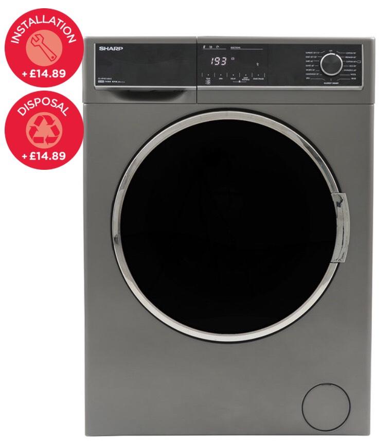 SHARP ES-HFH0148A3 10kg Washing Machine £329.89 @ Costco