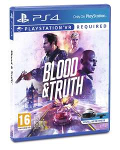 Blood and Truth (For PlayStation VR)/PS4 for £14.99 (Prime) / £19.48 (Non Prime) delivered @ Amazon