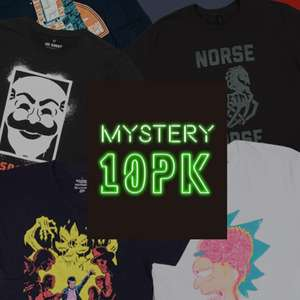 Mystery Geek T-Shirt - 10-Pack £19.99 (£1.99 P&P) with code @ Zavvi