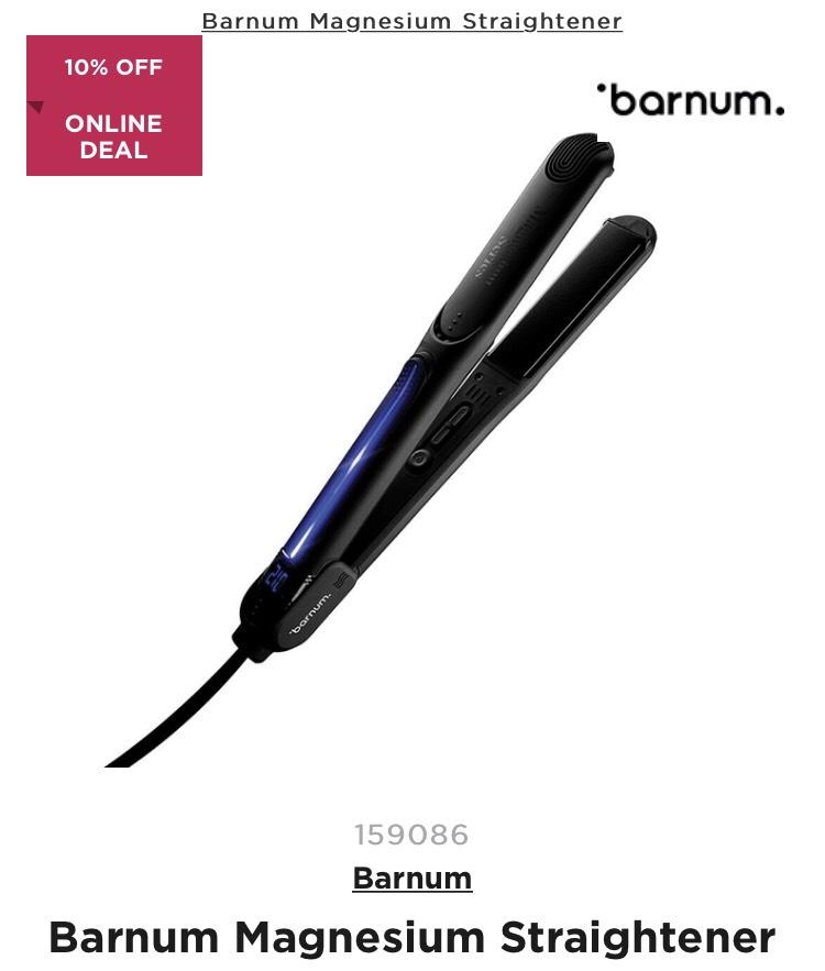 Barnum Magnesium Hair Straighteners - £79.99 @ Sallys Hair Supplys