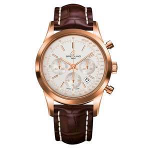 Breitling Transocean 18ct Rose Gold Chronograph Automatic Men's Watch £10744 @ Beaverbrooks