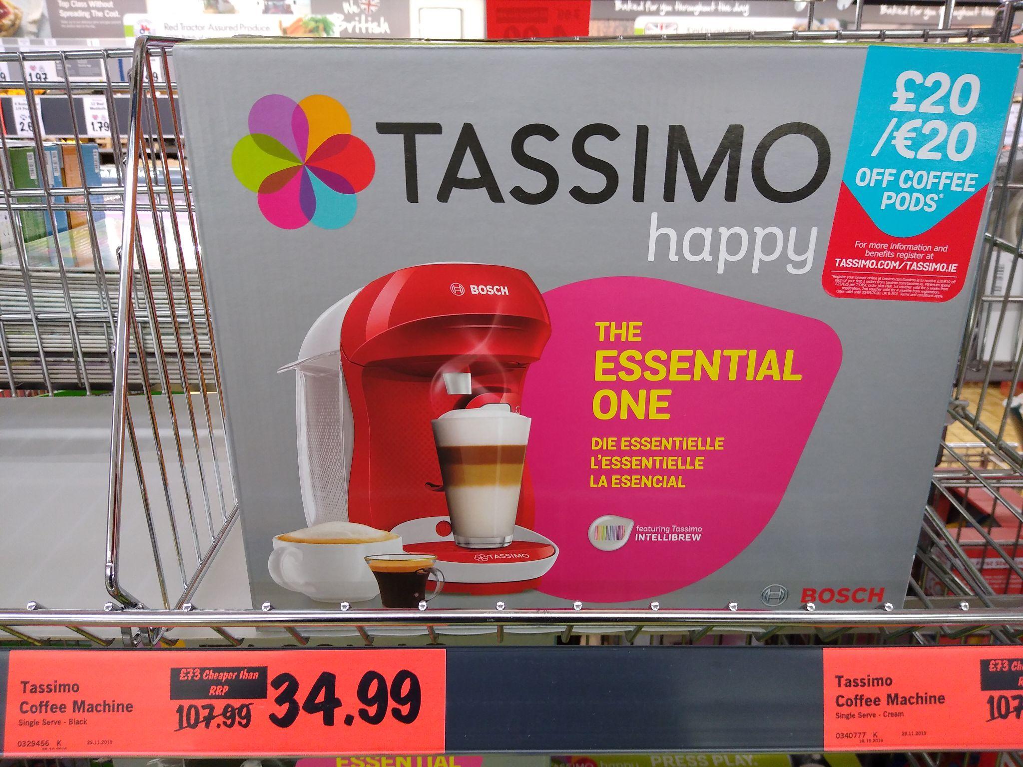 Tassimo coffee machine £34.99 at Lidl (Sidcup)