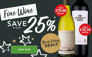 Black Friday: 25% OFF FINE WINE & £25.99 Taittinger @ Majestic Wine