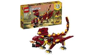 LEGO Creator Mythical Creatures Dragon Toy Set £13 each or £15 for 2 @ Argos