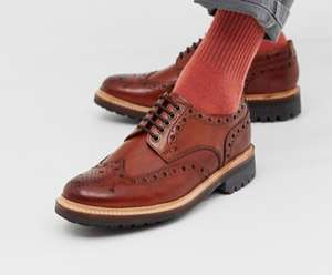 Grenson archie brogue shoes in tan leather £130 @ Asos