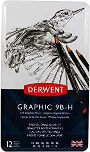 Derwent Graphic graded drawing pencils, H - 9B, £5.69 as Amazon Add-on