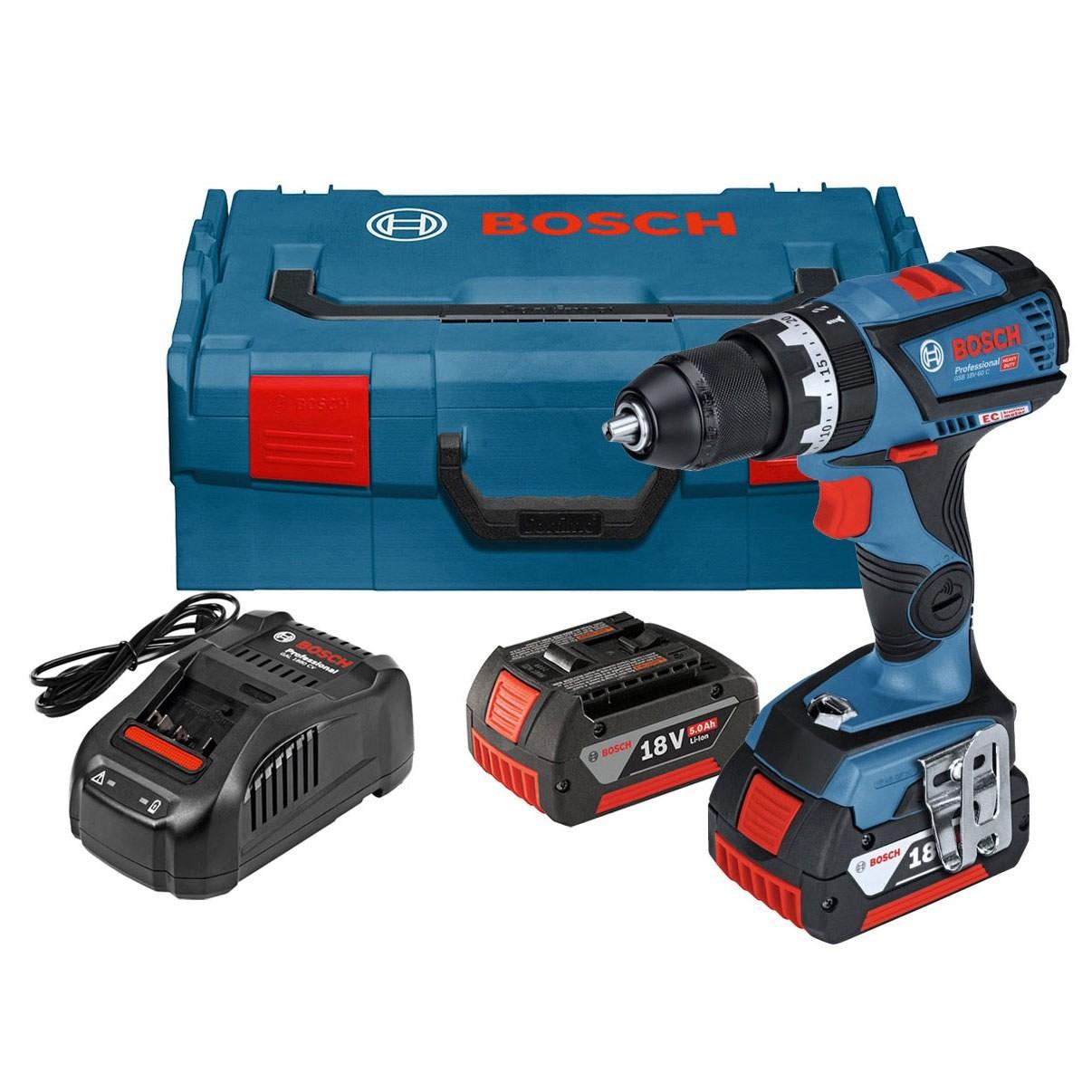 Bosch GSB 18 V-60 C Brushless Combi Drill inc 2x 5.0Ah Batteries £183.95 @ Powertoolworld