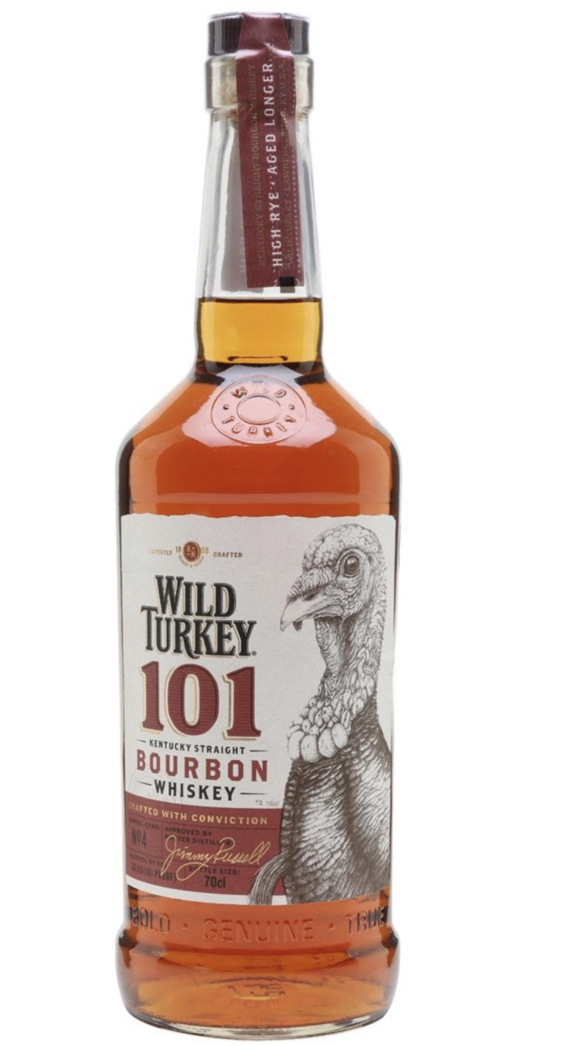 Wild Turkey Bourbon 101 @ Amazon - £22.44