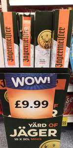 A Yard Of Jager! 10* 2cl jager bottles - £9.99 - b&m Merry Hill