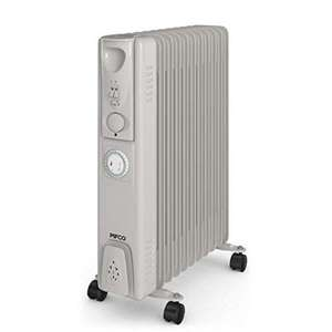 PIFCO P43005YT Oil Filled Radiator with 24 Hour Timer, 3 Heat Settings and Overheat Protection Feature 2500 W, Grey - £39.99 @ Amazon