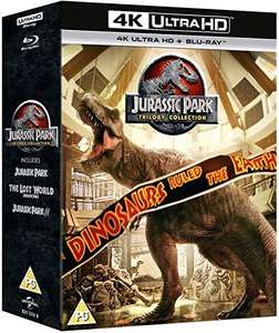 Jurassic Park Trilogy 4K UHD (plus blu rays) £21.25 delivered at Amazon