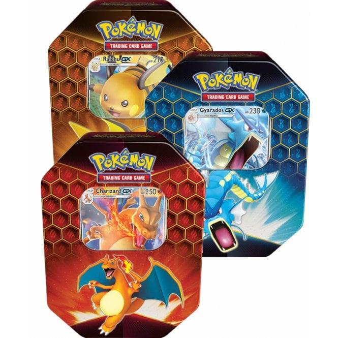 POKEMON CARDS Hidden Fates Collectors Tin - Set of Three! £38.75 @ Chaos Cards