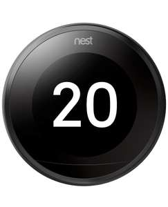 Nest Smart Learning Thermostat - 3rd generation - Black