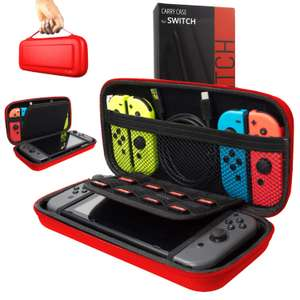 Orzly Carry Case Compatible With Nintendo Switch - RED Protective Hard Portable Carry Case £8.42 (Prime + £4.49 NP) Sold by Orzly and FBA