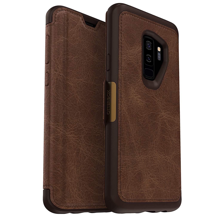Black Friday deal OtterBox Strada Folio Case for Samsung Galaxy S9+ - Espresso - £8.07 (Prime) £12.56 (Non Prime) @ Amazon