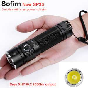 Sofirn SP33 Cree XHP50 High Power 2500lm Torch with 26650 battery and charger £18.57 Aliexpress