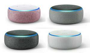 2 x Amazon Echo Dot (3rd Gen) - Smart speaker with Alexa (all colours inc. Plum Fabric) £39.99 @ Amazon