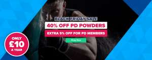 40% off PD Powders Extra 5% for members with Voucher code @ Protein Dynamix