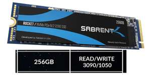 [SSD] Sabrent 256GB Rocket NVMe PCIe M.2 2280 High Performance for £29.99 - Sold by SLJ Trading & Fulfilled By Amazon