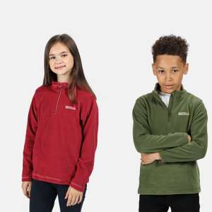 Kids' Hot Shot II Lightweight Half Zip Fleece £2.20 Using Code - Free Click & Collect @ Regatta