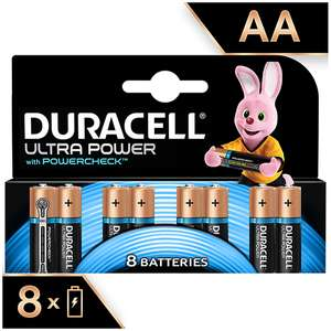16 Duracell Ultra Power AA or AAA Batteries for £10 @ Sainsbury's