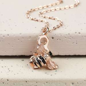 Honeycomb Bumblebee Necklace in Rose Gold £9.60 @ Lisa Angel Jewellery