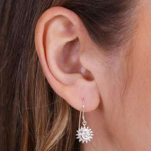 Sterling Silver Sun & Moon Drop Earrings at Lisa Angel Jewellery for £5 delivered