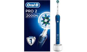 Oral B Pro2 2000N Cross Action Electric Toothbrushe £29.98 @ Groupon making them £19.90 delivered after 36% cashback Via cashback at Quidco