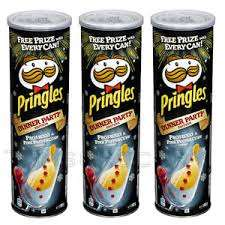 2 X 200g Pringles Prosecco and Pink Peppercorn, Xmas Dinner Edition. Just £1 Heron Foods. Abbey Hulton.
