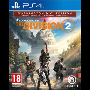 The Division 2 PS4 Only - Washington Edition £10 (with any purchase in store) Game Livingston