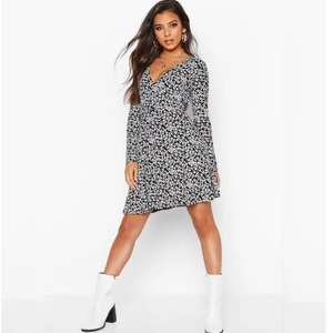 Ditsy Floral Wrap Skater Dress £4.50 + Free Delivery @ Boohoo + more Dresses £9 or less