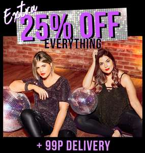 25% off Everything plus 99p postage at Yours Clothing