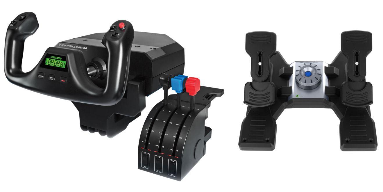 Logitech Flight Yoke System + Flight Rudder Pedals - £185.98 @ Logitech