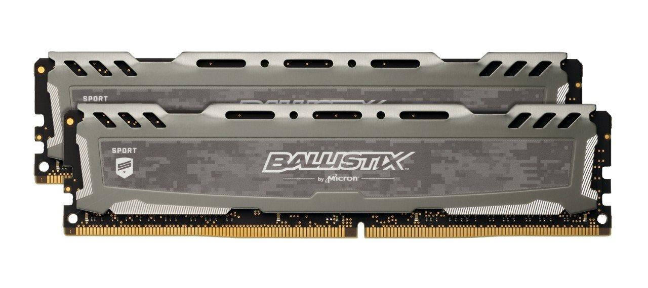 Crucial Ballistix Sport LT 16GB (2x 8GB) 3000MHz CL15 DDR4 RAM Memory Kit, Grey - £57.40 at Amazon