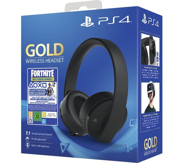 SONY Gold Wireless 7.1 Gaming Headset & Fortnite Neo Versa Bundle £37.49 delivered @ CurrysPCWorld