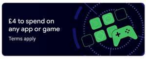 £4 to spend on any app or game £20+ - Selected users only @ Google Play