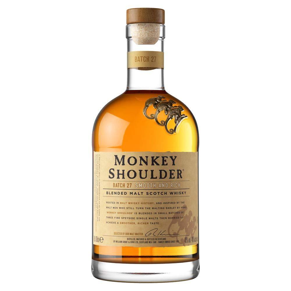 Monkey Shoulder Blended Malt Whisky, 70 cl - Free delivery £22 @ Amazon
