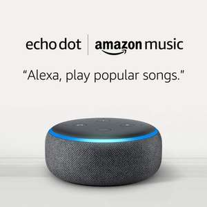 Echo Dot (3rd Gen) - All Colors + Amazon Music Unlimited (4 months free w/auto-renew) - £22 @ Amazon - new subscribers only