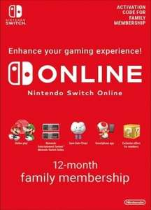 Nintendo Switch Online 12 Month (365 Day) Membership £14.35 @ Instant Gaming