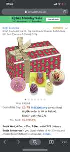 Bomb Cosmetics Star On Top Handmade Wrapped Bath & Body Gift Pack £5.79@amazom