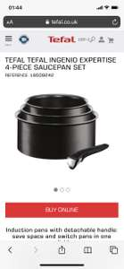 Tefal Ingenio Expertise 3 Saucepan and handle Set (Not the cheap essential range)
